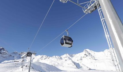 Wintersport in de lift